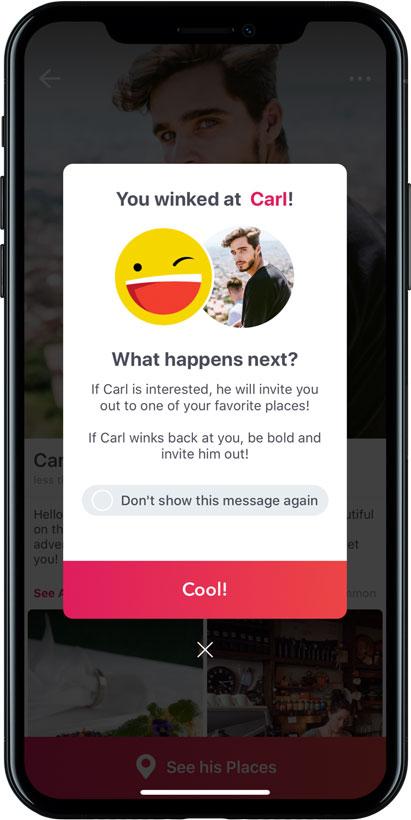 Screenshot of the BeMyGuest app